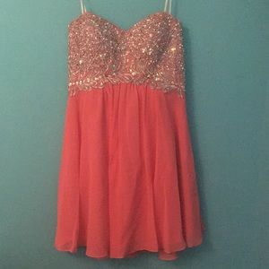PINK CUTE SHORT PARTY DRESS